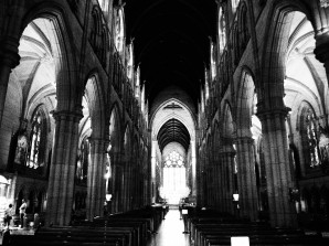 Sydney Cathedral St. Marys, black and white, dreamcatcher.tv