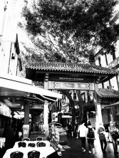 Sydney Chinatown, black and white, dreamcatcher.tv