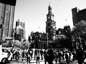 Sydney, Town Hall, black and white, dreamcatcher.tv