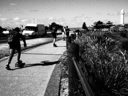 Wollongong skaters, black and white, dreamcatcher.tv