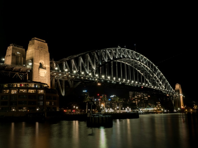 Harbour Bridge at Night, Langzeitbelichtung, Olympus OMD EM 5, dreamcatcher.tv