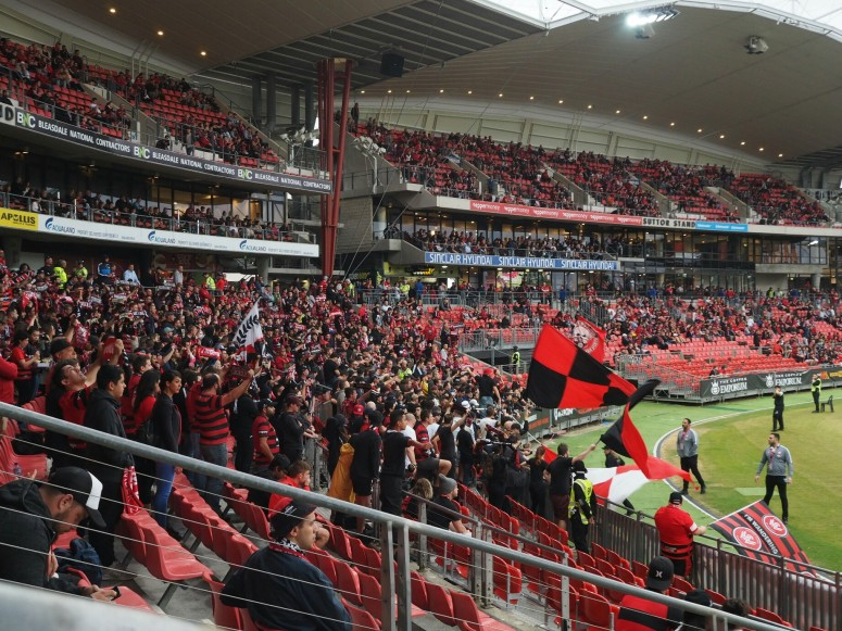 Red and Black Bloc, western sydney wanderers, dreamcatcher.tv, dreamcaatchertv